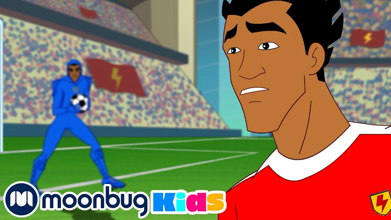 Download Cool Joe with no Groove - SUPA STRIKAS   Football Cartoon @Moonbug Kids - Superheroes
