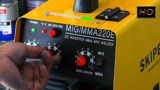Как заправить и отрегулировать сварочный полуавтомат. Испытания приза(Испытания сварочного аппарата скипер. МИГ ММА 220 е. Этот аппарат и будет призом победителю конкурса. Приз..., 2014-09-12T18:38:49.000Z)