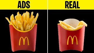 10 FOODS IN COMMERICALS VS. IN REAL LIFE