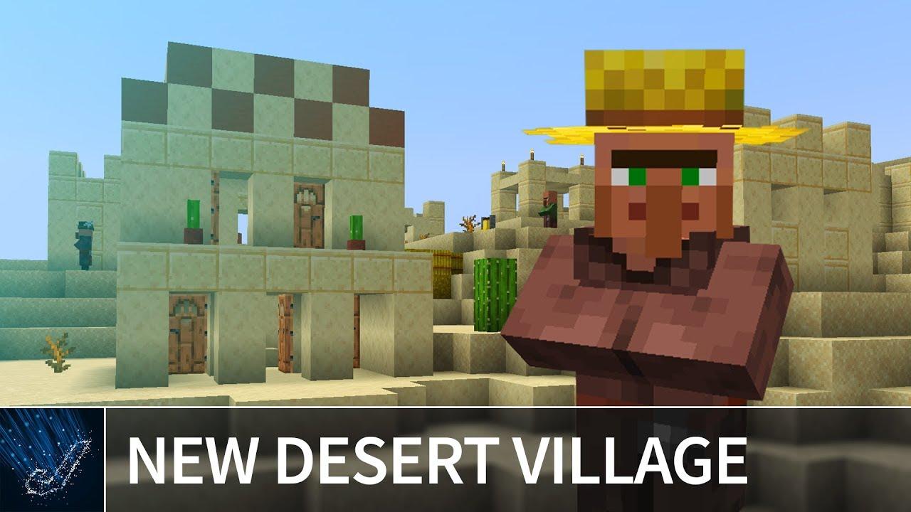 Minecraft 122.1224 - NEW DESERT VILLAGE SEED - Best Minecraft 122.1224 Snapshot  Update Seeds