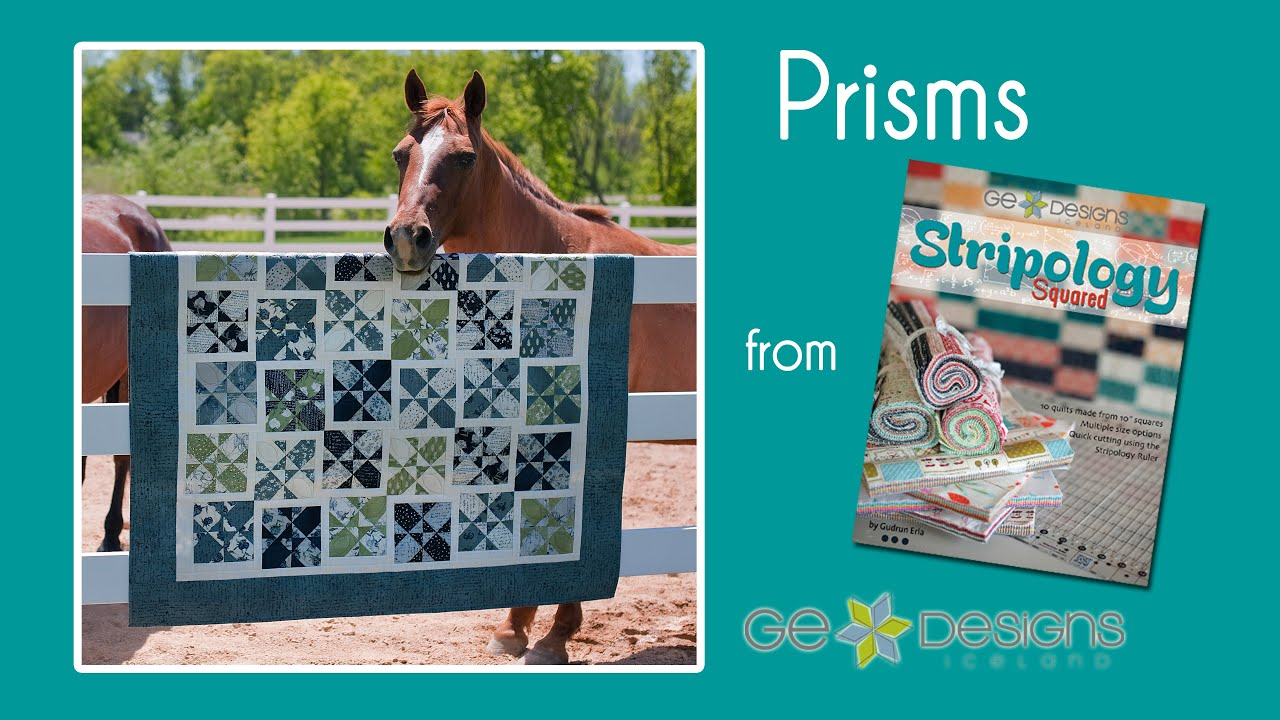 Demo of the technique used in the Prisms quilt by Gudrun Erla of GE designs. Full pattern can be found in Gudrun's book Stripology Squared. All the quilts in...