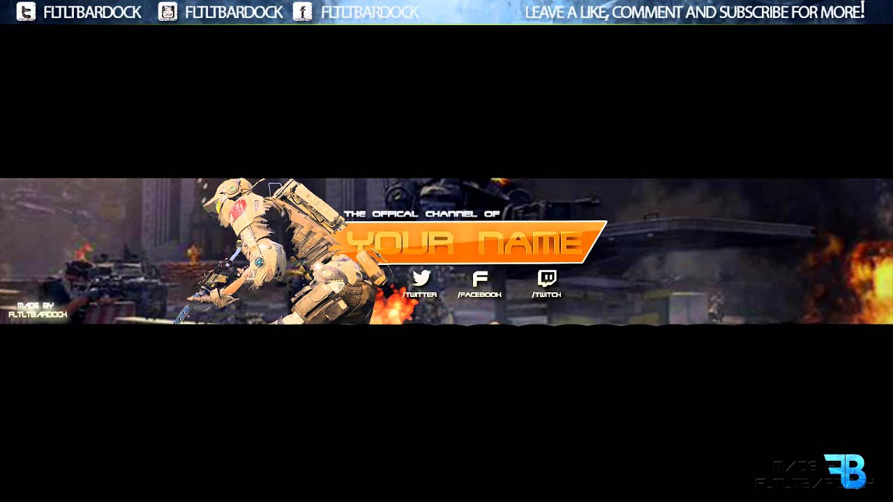 Call of duty bo3 black ops 3 youtube banner template psd youtube