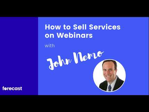 [AUDIO] How to Sell Services on Webinars with John Nemo