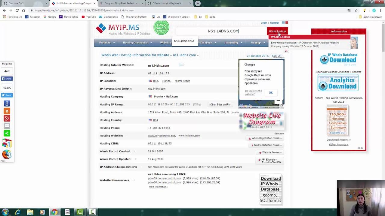 Cambio DNS Register it