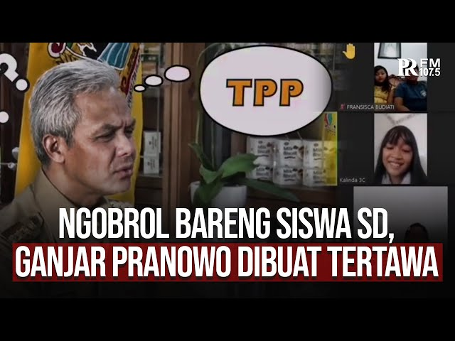 Gubernur Jawa Tengah Ganjar Pranowo Dibuat Tertawa oleh Jawaban Siswa SD Ini