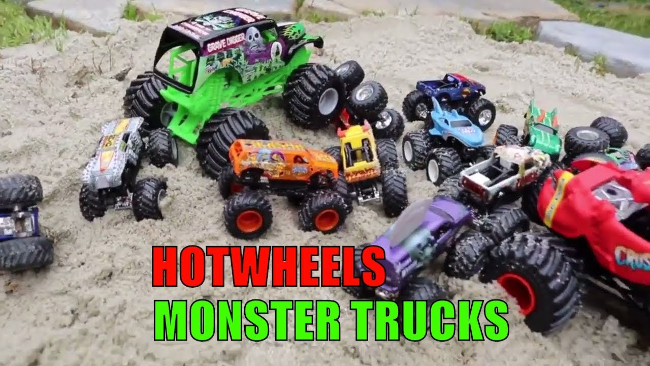 Monster Truck Videos For Kids Hot Wheels Monster Jam Truck Youtube