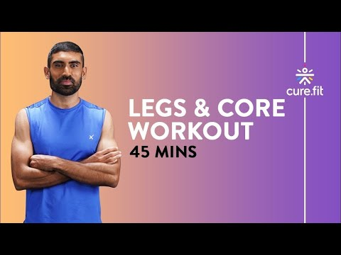 HRX Legs And Core Workout by Cult Fit | 45 Mins Routine | No Equipment | Cult Fit | Cure Fit