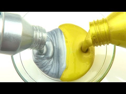Making Metallic  Slime With Gold and Silver Paint! Slime DIY
