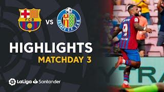 Resumen de FC Barcelona vs Getafe CF (2-1)
