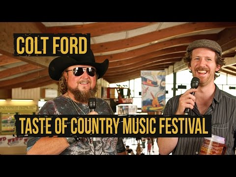 Colt Ford Talks Recording With Keith Urban - 2015 Taste of Country Music Fesival