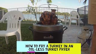 HOW TO Fry a Turkey in a Char Broil Big Easy Oil less Turkey Fryer