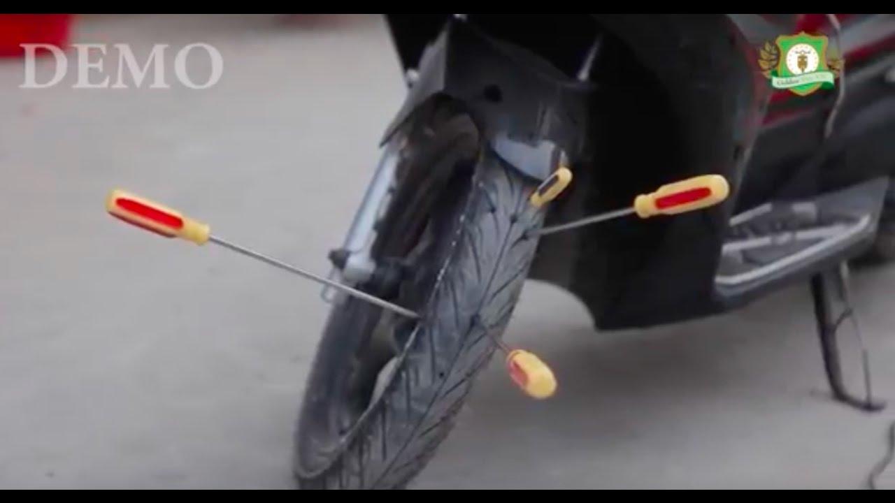 Vỏ xe không ruột – Lốp xe không ruột không hơi chống đinh tặc cho xe máy