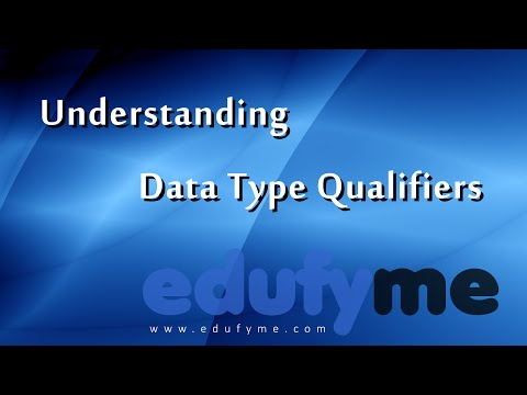 Edufyme C++ Tutorial - Level 4 Topic 2, Data Type Qualifiers