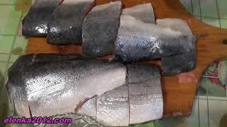 Как засолить горбушу сухим способом(Смотрите простой рецепт засолки красной рыбы сухим способом, горбуша получается очень вкусная!, 2015-01-12T20:34:29.000Z)
