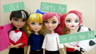 DIY Shirts for Ever After High Doll/Monster High Doll