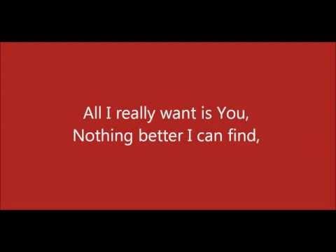 All I Really Want - Adam Cappa - Lyrics