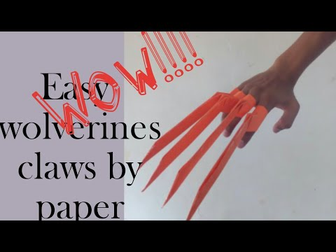 How to make paper wolverine claws|paper weapons|marvel weapons