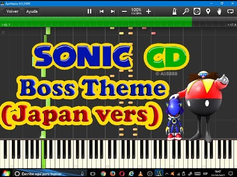 Boss Theme (Japan) OST (Sonic CD)-Synthesia-Undertale sheet music