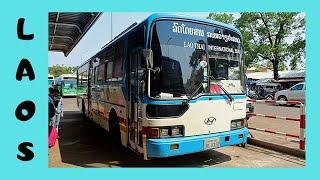 LAOS: VERY adventurous and EXHAUSTING BUS TRIP,  VIENTIANE to LUANG PRABANG 🚌
