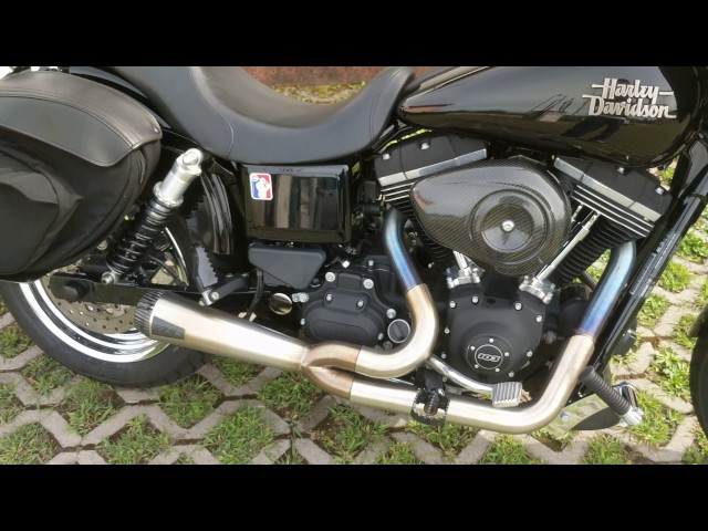 Harley Davidson street bob fxdb clubstyle tbr exhaust