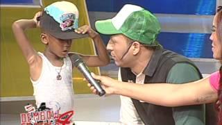 Niño de 6 años se roba el show en el Dembow en Pinta de AQUÍ SE HABLA ESPAÑOL
