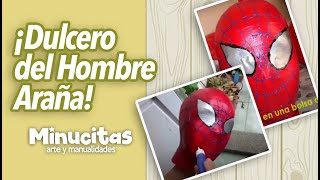 Repeat youtube video Tutorial. Dulceros del Hombre Araña. Spiderman's boxes of candy.