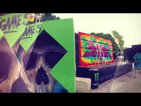 Risk vs X Games Graffiti mural – Live at Soundset Festival