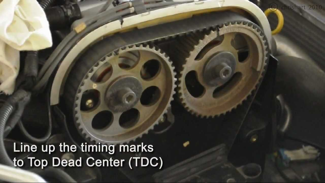 Astra Turbo (z20let) Timing Belt Install  Part 1 of 2