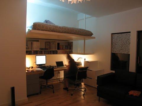 adult loft bed with desk youtube. Black Bedroom Furniture Sets. Home Design Ideas