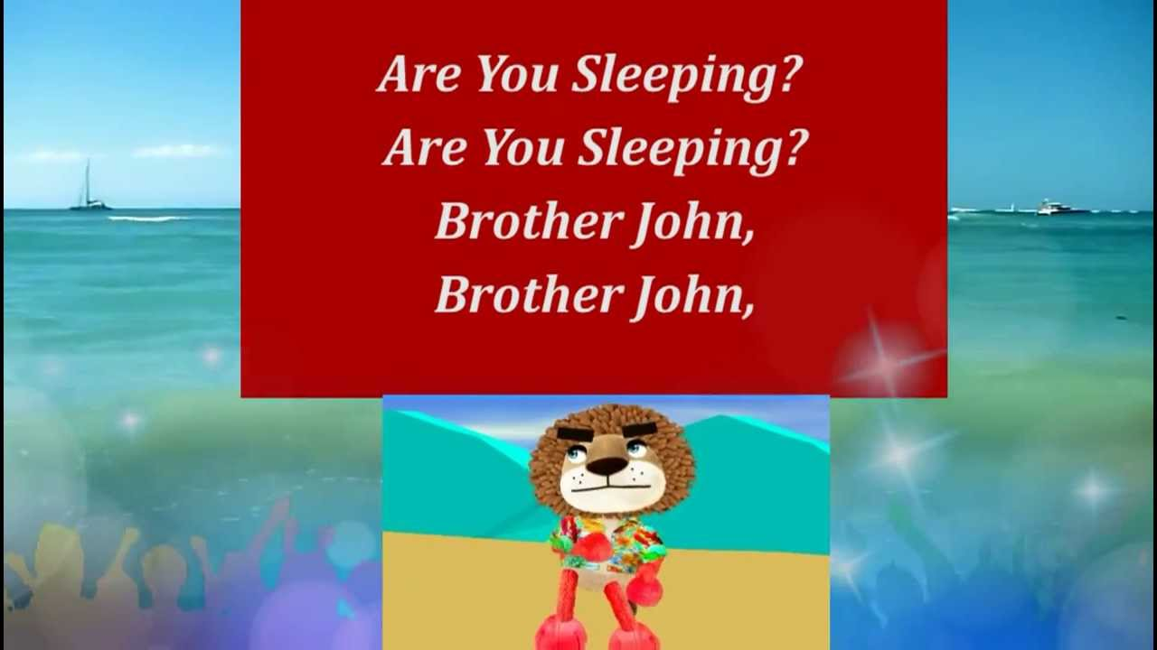 Are you sleeping | Nursery Rhyme With Lyrics | Nursery ...
