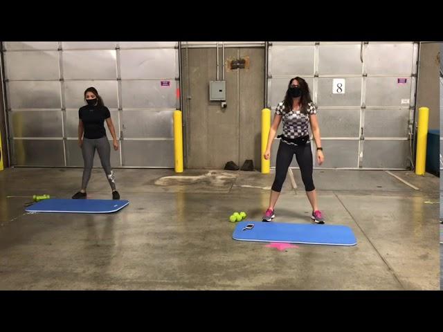 Dumbbells and a mat