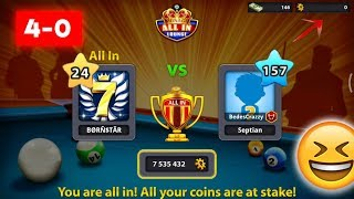 I won 4 All In Matches Against Him | Miniclip 8 Ball Pool