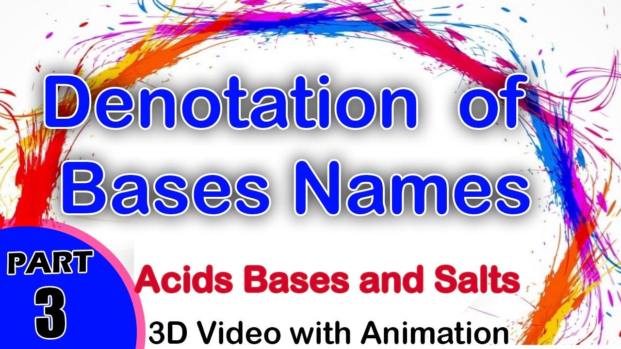 Denotation of Bases Names   Acids Bases and Salts   cbse physics ...