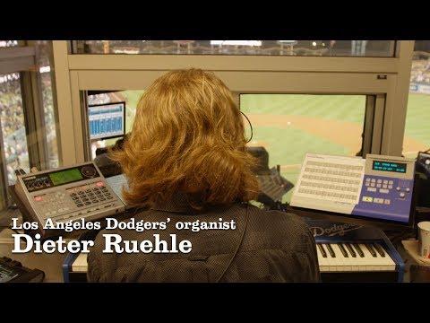 Dodgers Organist Dieter Ruehle   Los Angeles Times