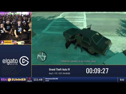 #ESASummer18 Speedruns - Grand Theft Auto IV [Any%] By KyleDoesIt