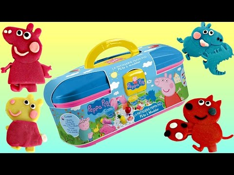 Nick Jr. PEPPA PIG Picnic Dough Set with George  & Friends Carry Case