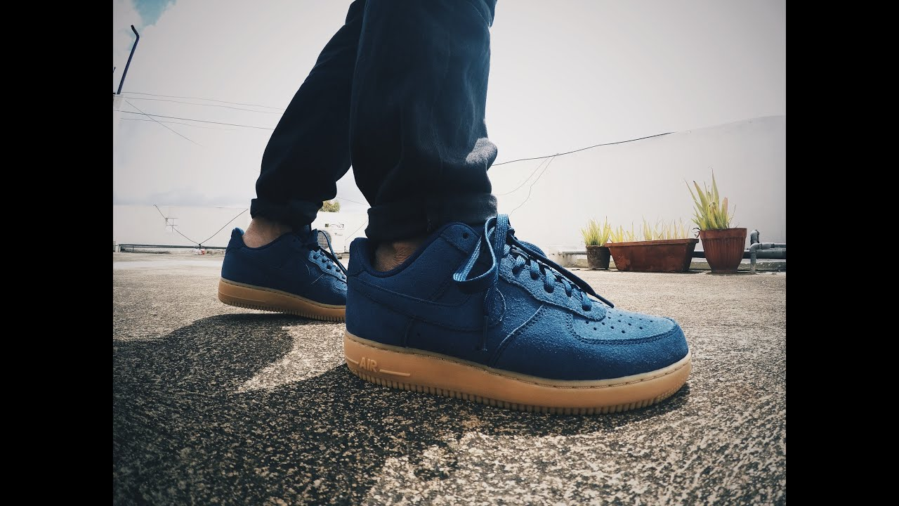 nike air force 1 low suede midnight navy