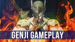 Overwatch: Shurikens & Dragonblades! (Genji Gameplay)