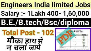 eil recruitment 2020   Govt jobs For B.E./B.tech/Bsc/diploma   latest vacancy January 2020