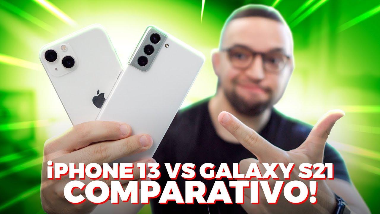 Download iPhone 13 vs Galaxy S21 | qual é o MELHOR? COMPARATIVO!