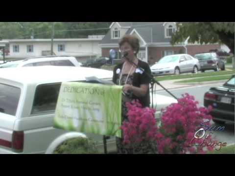 Dedication of a Memorial Garden in Honor of Dr George Tiller 8/08/2009