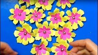 супер_Быстро Легко Сделать Цветочки Своими Руками Поделки из бумаги Цветы для чайников оригами