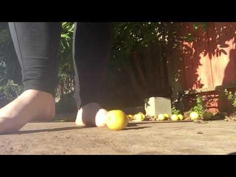 Crushing lemons with my feet thumbnail