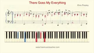 "How To Play Piano: Elvis Presley ""There Goes My Everything"" Piano Tutorial by Ramin Yousefi"