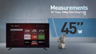 TCL Roku TV 50FS3800 LED HD TV   // Full Specs Review  #TCL