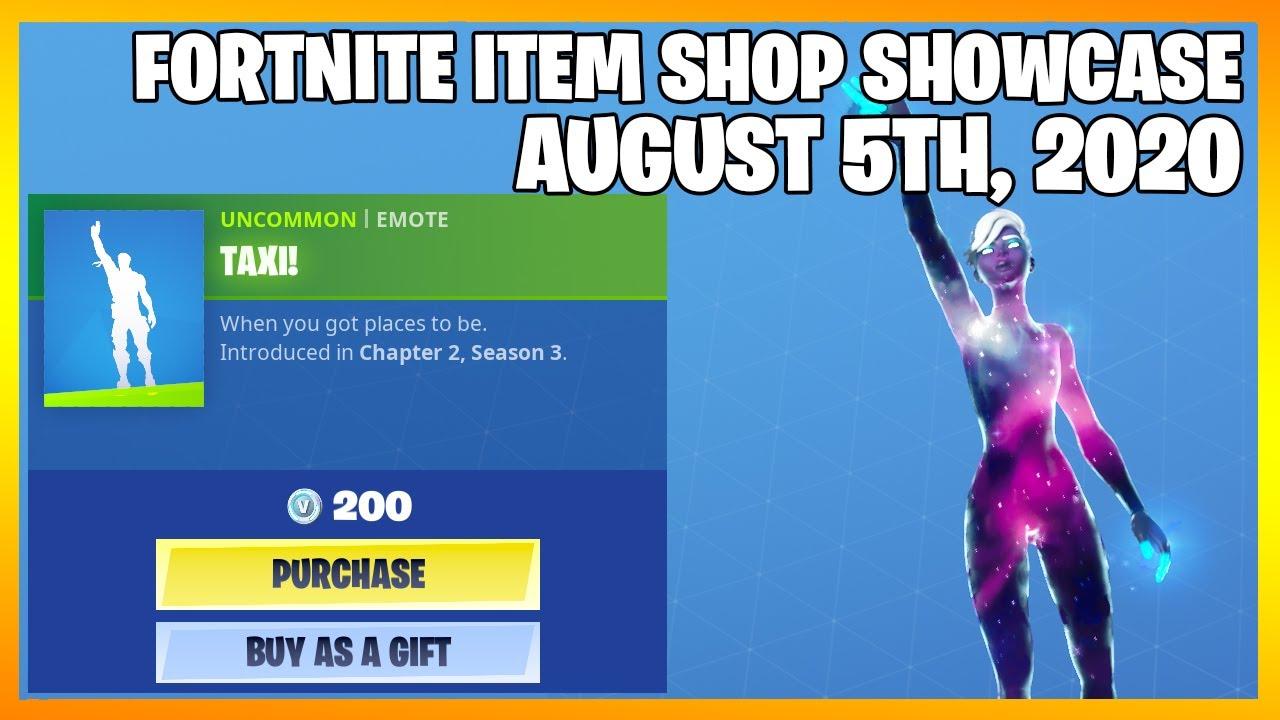 Fortnite Item Shop *NEW* TAXI! EMOTE! [August 5th, 2020] (Fortnite Battle Royale)