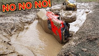 SLOPPY RC MUD BOG - How NOT to do it Crawler Cars FAIL