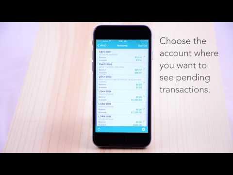 WSECU - How To - Pending Transactions, iOS