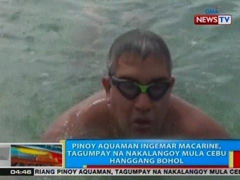 BP: Pinoy Aquaman Ingemar Macarine, tagumpay na nakalangoy mula Cebu hanggang Bohol