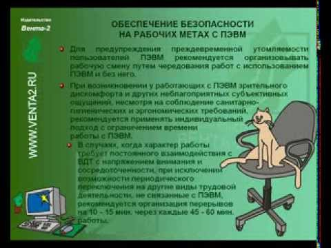 Инструктаж по охране труда при работе на ПЭВМ